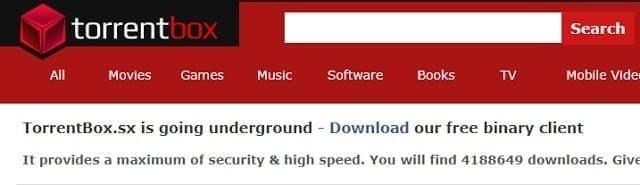 2) موقع torrentbox
